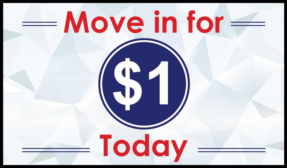 $1 Move in.